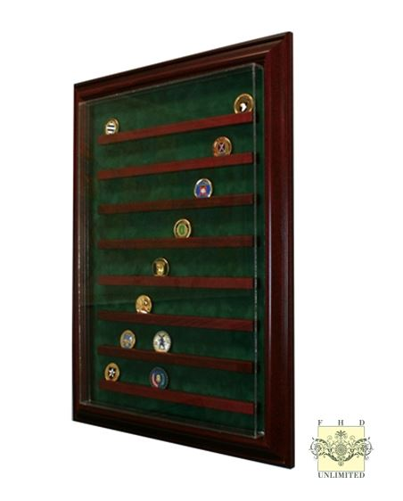 64 Challenge Coin Display Case