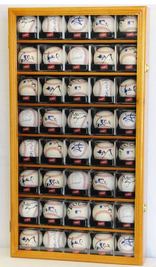 Display Case - Baseball - 40 Ball Square Acrylic Cube