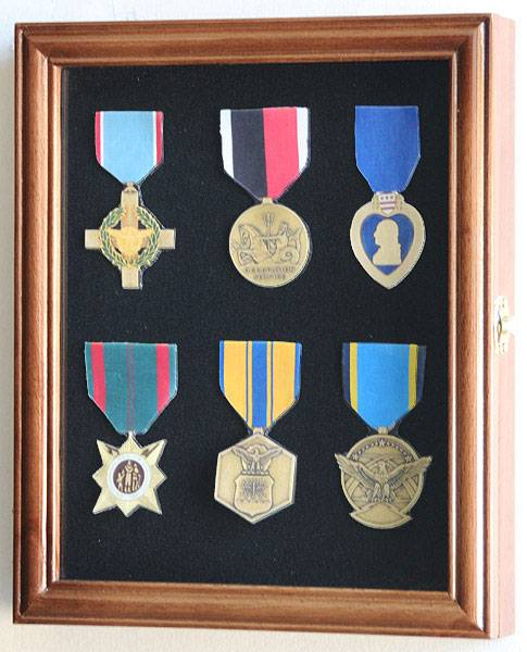 Display Case Medals Pins Or Patches Small Military