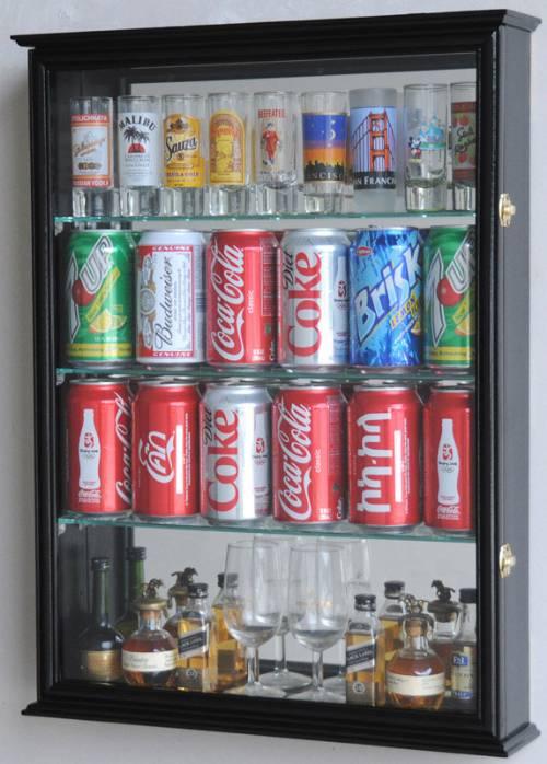 Shotglass Collector Case Tall Shot Glass Beer Can Shot