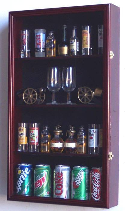 Shotglass Collector Case - Tall Shot Glass/Mini Liquor Bottle