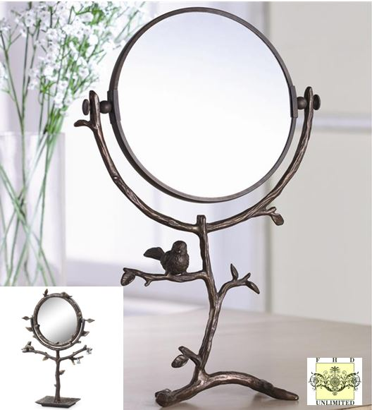 Merveilleux Table Mirror Set   Bird U0026 Branch Table Mirrors With Jewelry Holder