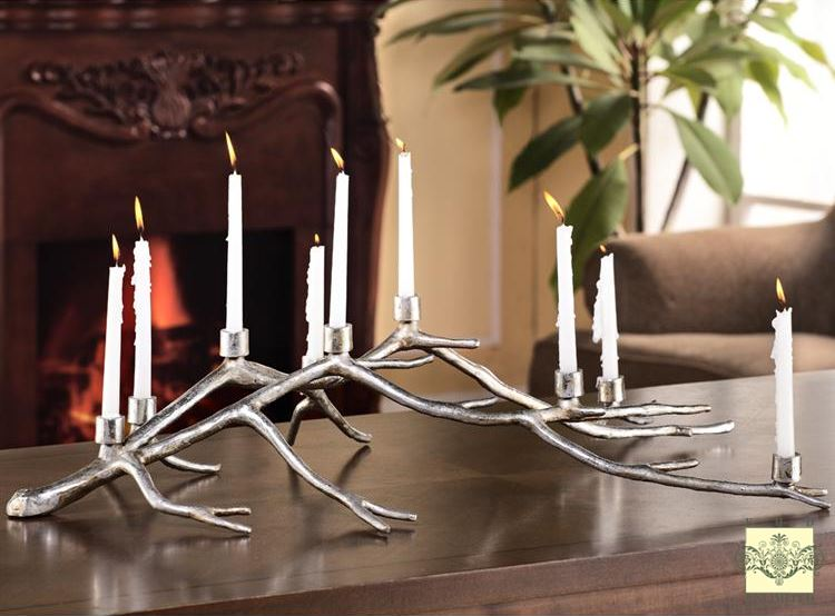 Candelabra - Rustic Branch Candle Holder