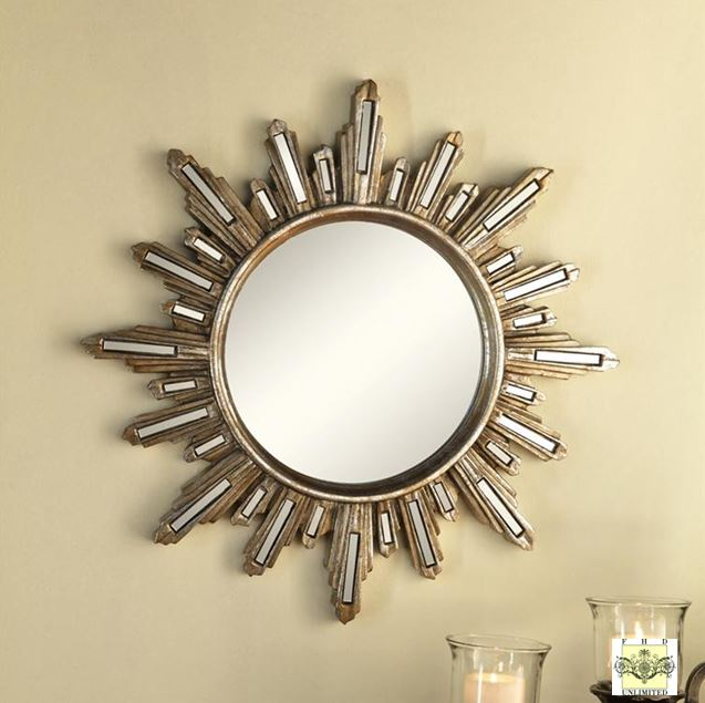 accent mirrors set of 3 deco radiance mirrors wall decor mirrors. Black Bedroom Furniture Sets. Home Design Ideas