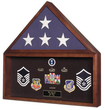 Flag & Medal Display Case