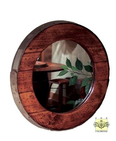 Accent Mirror - Barrel Ring Mirror for Wall