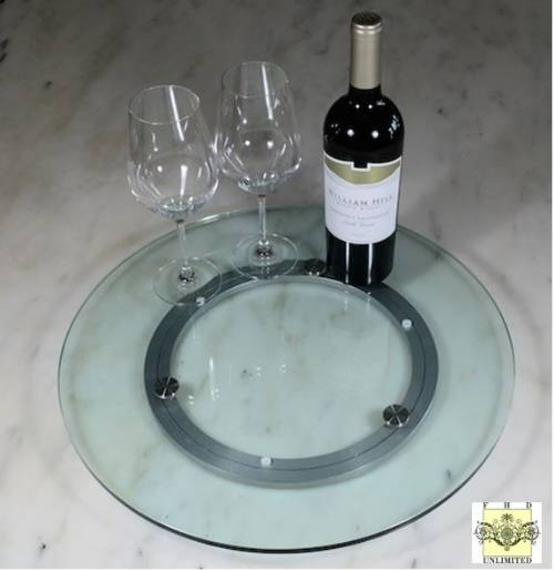 "Glass Lazy Susan Turntable - 18"" or 24"""