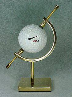 Golf Ball Display Stand - Brass or Nickel Finish