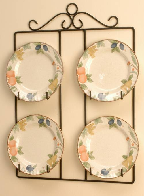 Plate Hanger - Square Victorian Four Plate