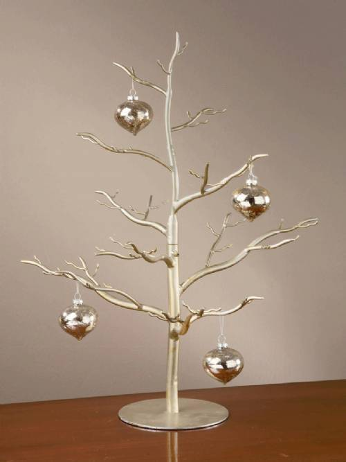 Ornament Tree - Natural Design Silver & Gold