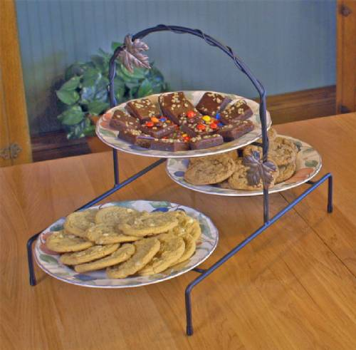 Pie or Plate Racks - Triple Tier - Stairstepped