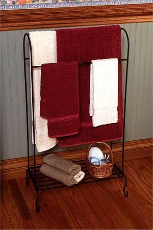 Quilt Rack Towel Rack Freestanding With Shelf Quilt Racks
