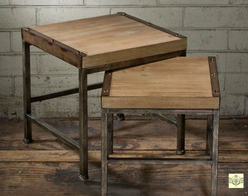 Accent Tables - Industrial Design Set of Two