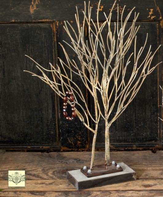 Ornament trees metal willow display tree