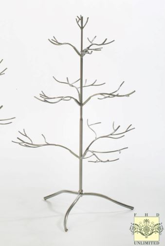 "Ornament Display Trees - 25"" Silver or Gold Natural"