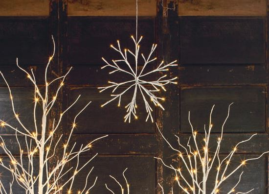 Display Snowflake - Hanging LED Snowflake Set of 3, 4 or 5