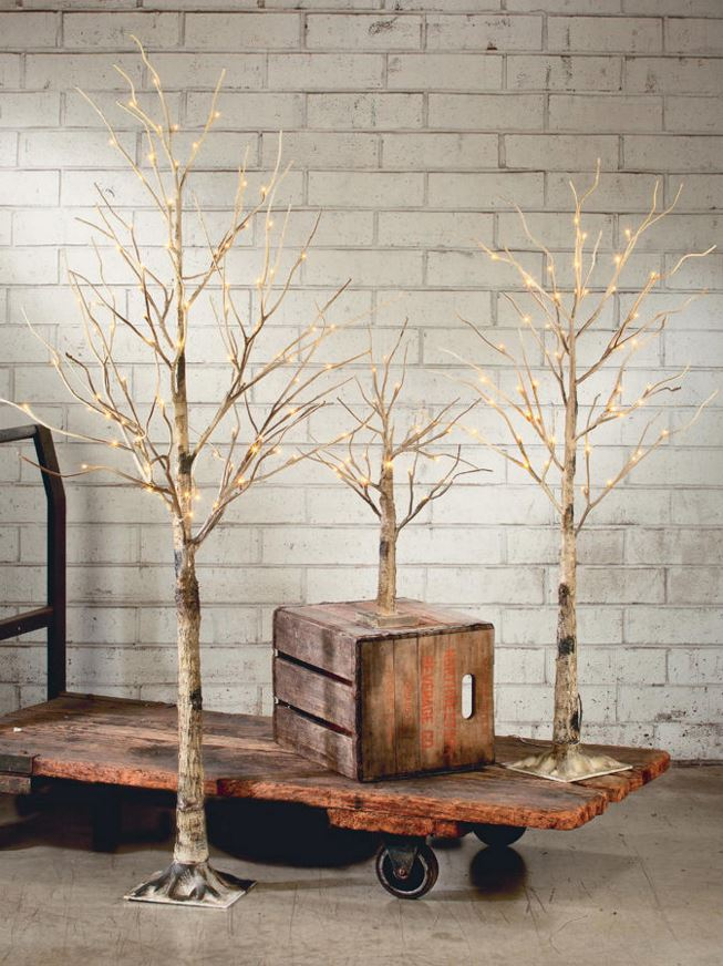Selection of Lighted Display Trees