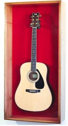 Guitar Display Case - Large Acoustic Wall Cabinet