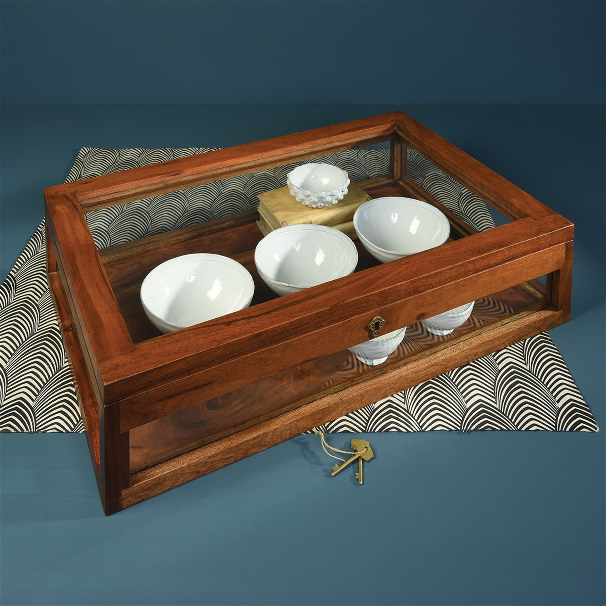 Wood Plate Display Case - Rectangular