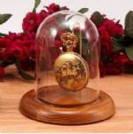 "Glass Pocket Watch Domes - Wire Hook  3"" x 4¼"""