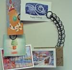 Card and Photo Holder - Sturdy Metal Wreath