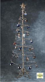 Ornament Trees - Spiral Wire Ornament Tree - 6 Foot