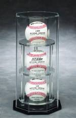 Baseball Display Case - Octagon Acrylic - Triple