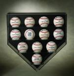 Baseball Display Case - Homeplate Case for 12 Baseballs