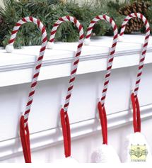 Stocking Hangers - Candy Canes, Set of 4
