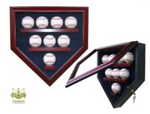 Baseball Display Case - Home Plate Eight Ball Display