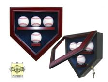 Baseball Display Case - Home Plate Four Ball Display