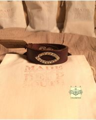 MADE IN THE DEEP SOUTH - Brown Leather Cuff Bracelet - Eye of Horus