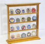 Coin Display Case - Four Shelf