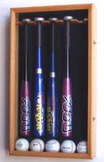 Display Cases - Baseball Bat - 5 T-ball Bats