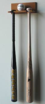 Display Cases - Baseball Bat - Bats & Ball Rack