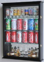 Mini Liquor Bottle & Beer Can Display Case