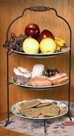 Pie Or Plate Racks Triple Tier Vertical
