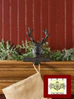 Stocking Holders - Rustic Reindeer Head - Set of 2