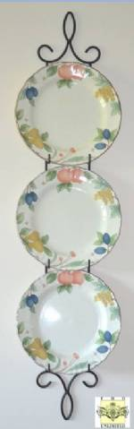 "Plate Holders - Contessa Triple Plate Rack for 9"" - 11"" Plates"