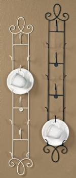 Cup and Saucer Hanging Racks - Augusta Vertical - Set of  2
