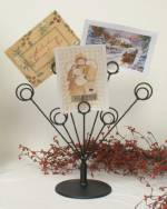 Photo Holders - Wrought Iron Seven Card Holder