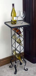 Wine Rack  with Tile Table Top - Set of 2