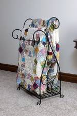 Quilt Rack Towel Rack - Scrolled Two Piece