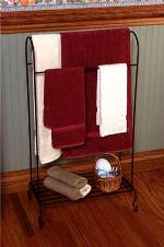 Quilt Rack Towel Rack - Freestanding with shelf