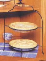 Pie or Plate Racks - Double Tier - Single Handle & Plate Stands Tiered Dinner Plate Stands Pie Racks