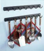 Utensil Rack - Wrought Iron Seven Hook