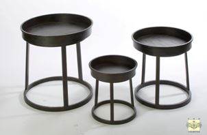 Display Tray Tables - Set of Three Industrial Design