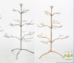 Ornament Display Trees 25 Silver Or Gold Natural