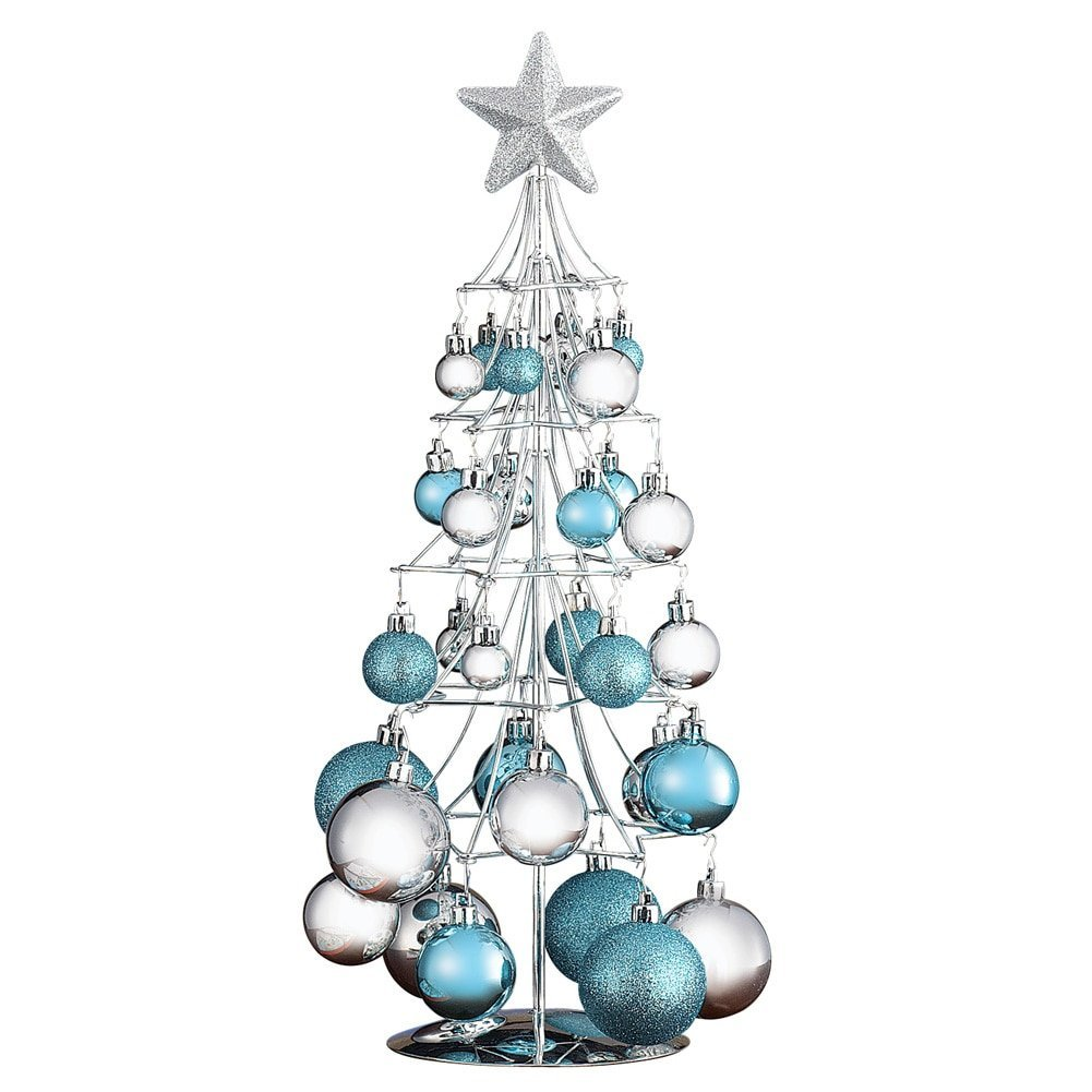 Ornament Display Tree - Tabletop Gold or Silver, Ornament ...