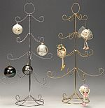 Ornament Trees - Twisted Four Tier Display - Silver